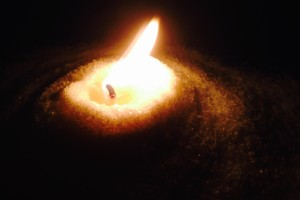 Candle in Salt