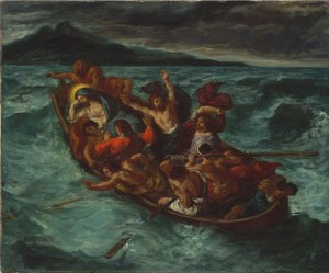 Painting by Delacroix - Christ Calming the Tempest
