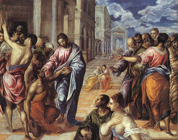 Christ Healing the Blind, by El Greco