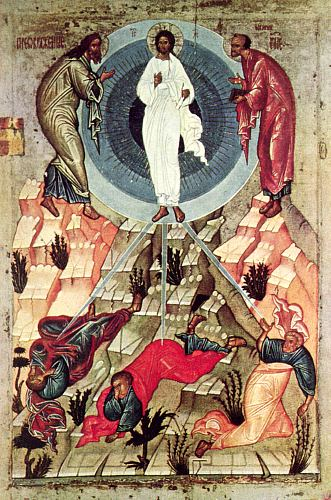 Icon of Transfiguration, Novgorod School, 15th century.