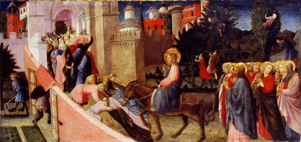 Pietro di Giovanni d'Ambrogio. Entry into Jerusalem. 1435-40. Pinacoteca Stuard, Parma