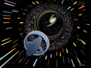 Wormhole, digital art by Les Bossinas, via NASA.gov