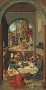 Mary Magdalene anointing the feet of Christ. Anonymous. German, 16th century.