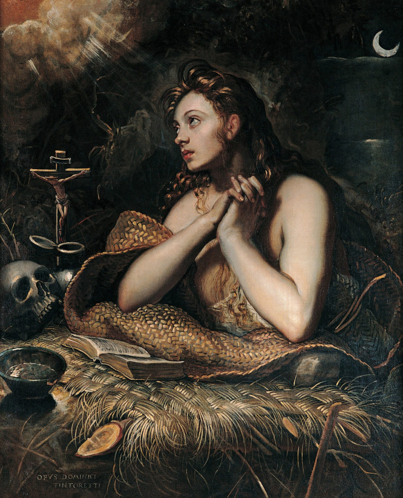 Penitent Magdalena. Tintoretto c.1598-1602.