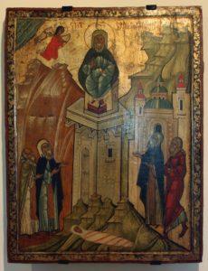 Icon of Simeon Stylites. Historic museum, Sanok, Poland.