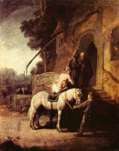 The Good Samaritan by Rembrandt c.1630. Wallace Collection, London.