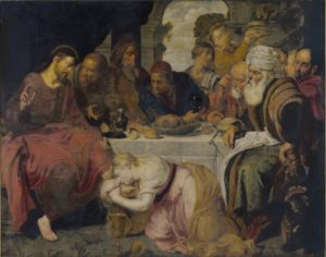 Christ in the House of Simon the Pharisee by Artus Wolffort, 17th century