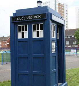 The TARDIS from Doctor Who