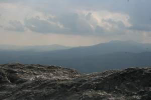 Mountains with Blowing Rock