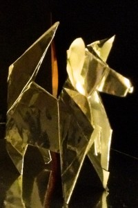 Origami gold