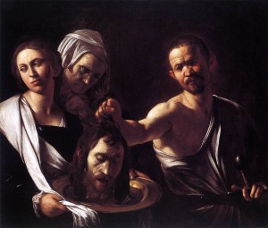 Painting of Salome by Caravaggio