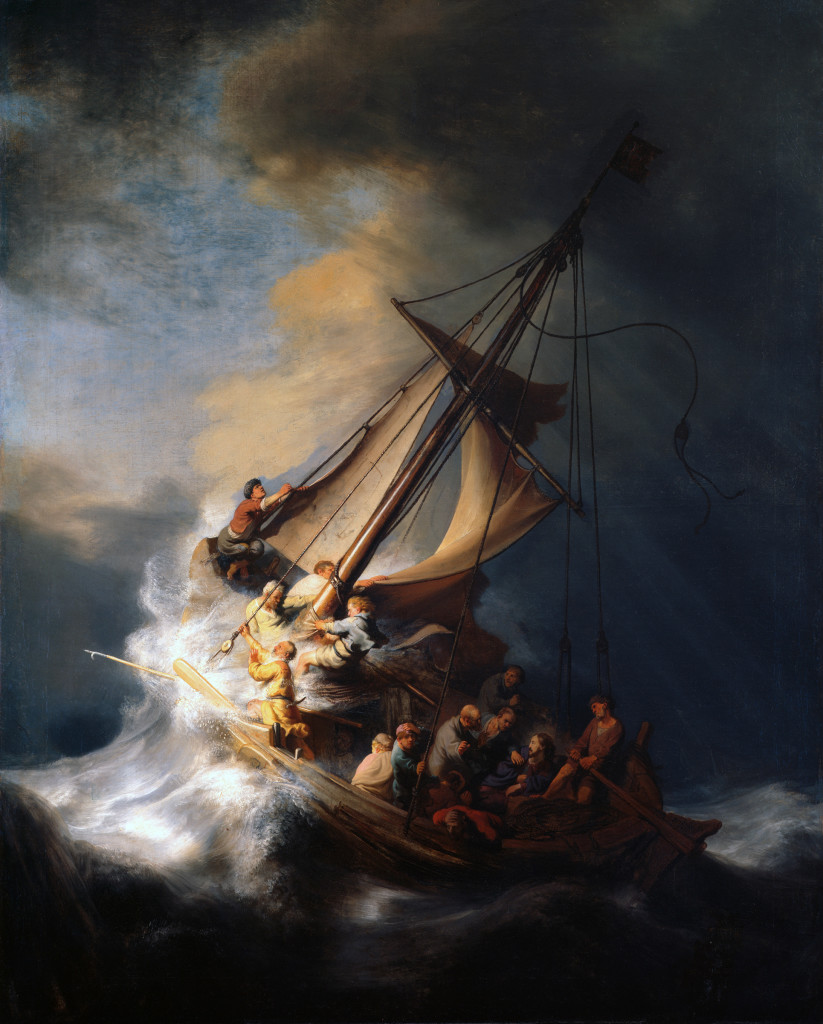 Painting - Rembrandt's Christ in the Storm on the Lake of Galilee