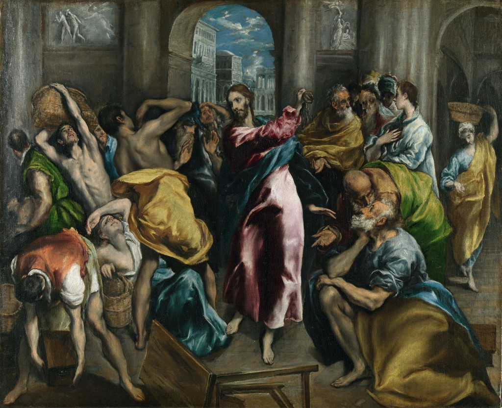 El Greco's painting - Christ Driving the Traders from the Temple