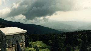 Stone Pillar in Mountains