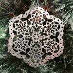 Silver Snowflake on Christmas Tree
