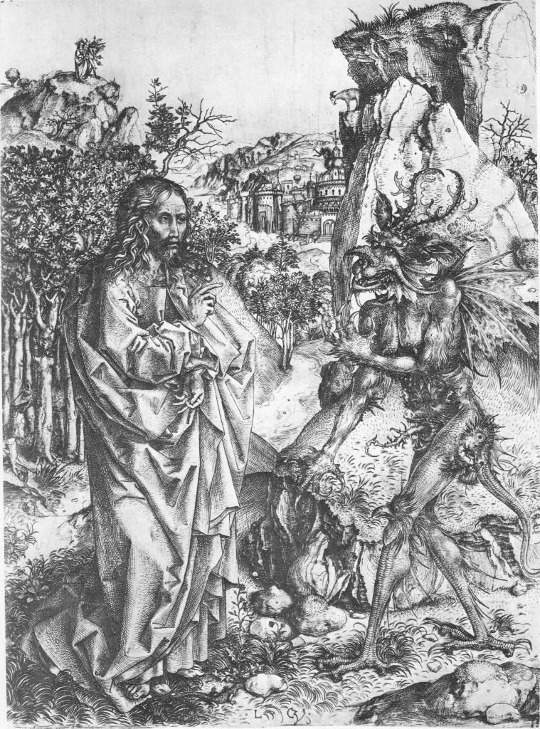 Temptation of Christ, engraving