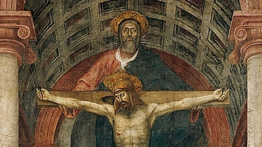 Masaccio, The Trinity (closeup), c.1427