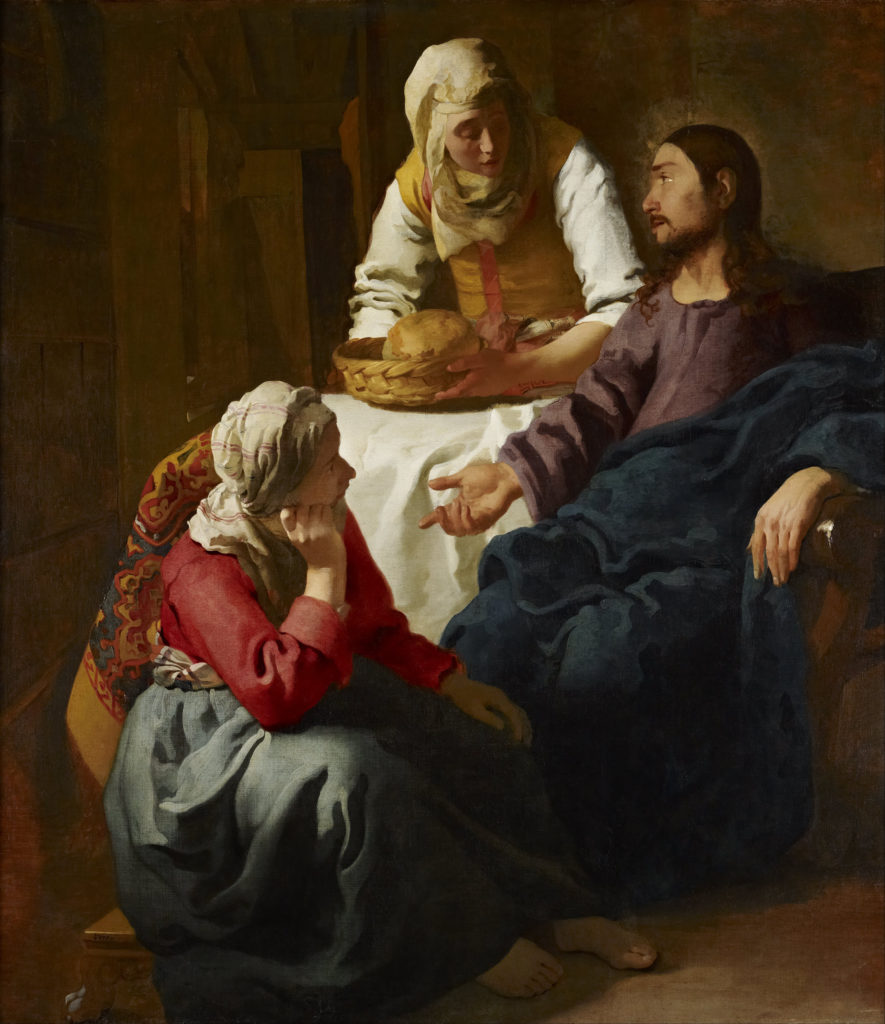Christ in the House of Mary and Martha by Vermeer, c.1655