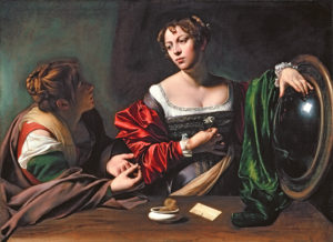 Martha and Mary by Caravaggio, c.1598