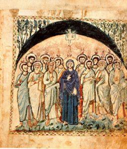 Folio 14v of the Rabula Gospels (Florence, Biblioteca Mediceo Laurenziana, cod. Plut. I, 560), Pentecost