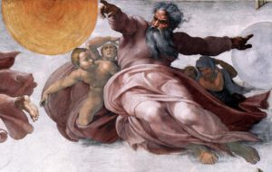 Creation of the Sun, Moon, and Planets by Michelangelo, Sistine Chapel, c.1511