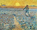 Van Gogh's The Sower at Sunset. Kröller-Müller Museum. June, 1888.
